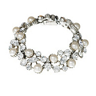 Thomas Laine Vintage Inspired Pearl and Crystal Bracelet