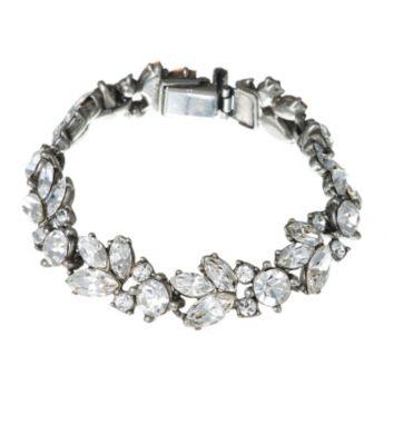 Thomas Laine Bridal Floral Crystal Bracelet