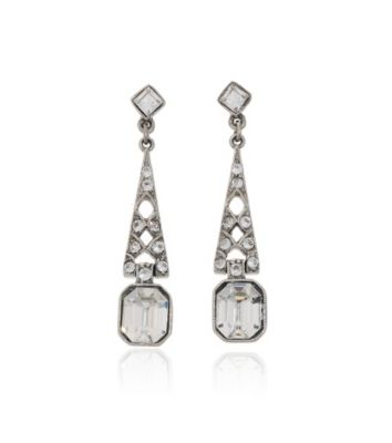 Thomas Laine Bridal Crystal Deco Earrings