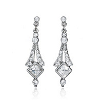 Thomas Laine Crystal Deco Bridal Earrings