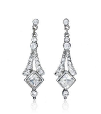 Thomas Laine Crystal Deco Bridal Earrings