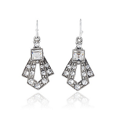 Thomas Laine Mini Gatsby Crystal Drop Earrings