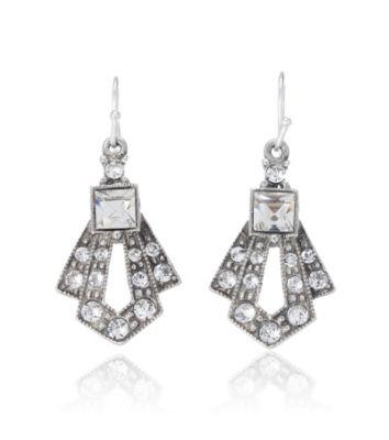 Thomas Laine Mini Gatsby Crystal Drop Earrings