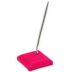 The Knot Colored Silk Pen & Holder - Fuchsia