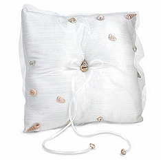 The Knot On The Beach Ring Pillow