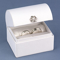 Satin Treasure Chest Ring Box