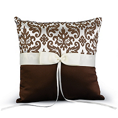 Enchanted Evening Ring Pillow - Mocha