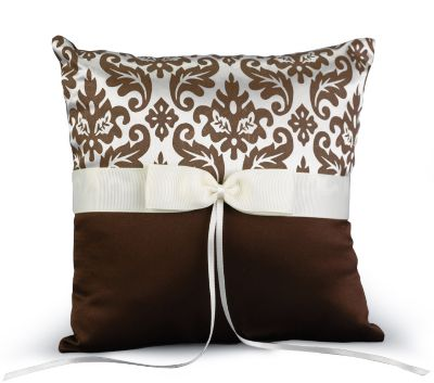 Enchanted Evening Ring Pillow - Mocha