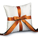 Two-Ribbon Custom Color Ring Pillow - Ivory