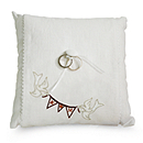 Personalized Ring Pillow - Love Pennant