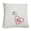 Personalized Ring Pillow - Heart