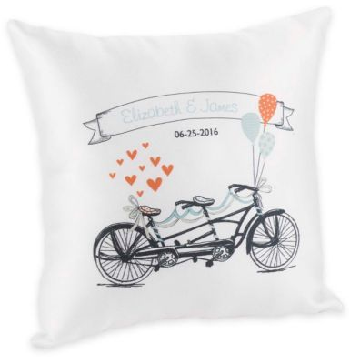 Personalized Tandem Bike Ring Pillow