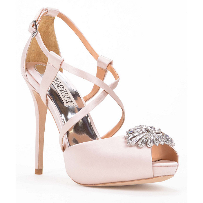 badgley mischka pink wedding shoes bonus get