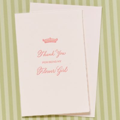 Thank You For Being My Flower Girl Card
