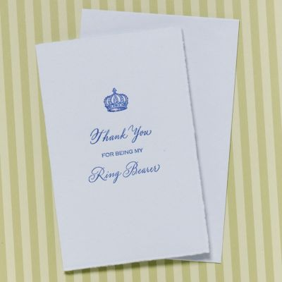 Thank You For Being My Ring Bearer Card