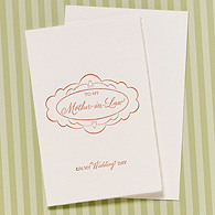 To My Mother-in-Law on My Wedding Day Card