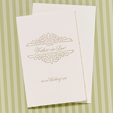 To My Father-in-Law on My Wedding Day Card