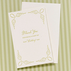 thank you for being a part of our wedding day card