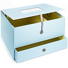 The Knot Keepsake Box - Blue Dot
