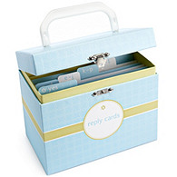 The Knot Reply Card Organizer - Blue Dot