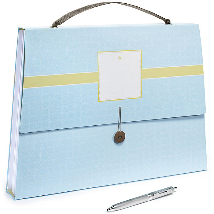 The Knot Expandable Purse File - Blue Dot