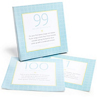 The Knot 100 Day Countdown Desk Calendar - Blue Dot