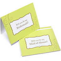 The Knot Will You Be Bridesmaid Cards - Swirl
