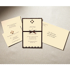 Chocolate Daisy Invitation Kit