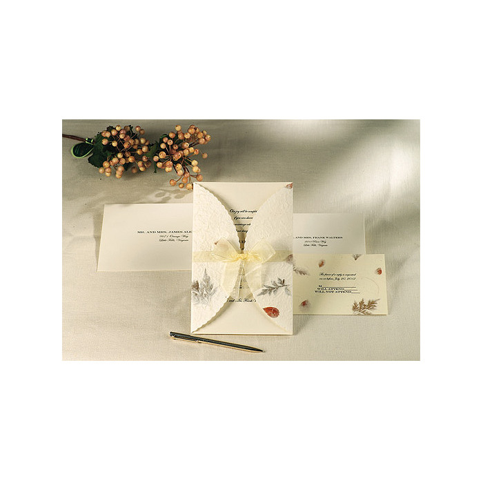 Pressed Floral Invitation Kit