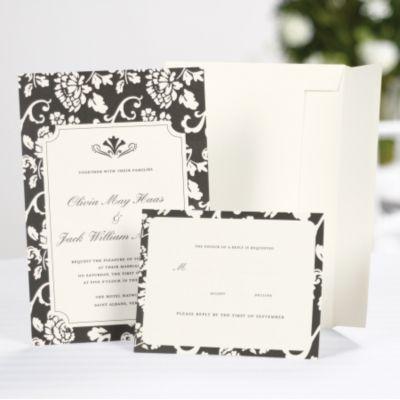 Floral Framed Invitation Kit