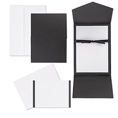 classic black & white pocket invitation kit