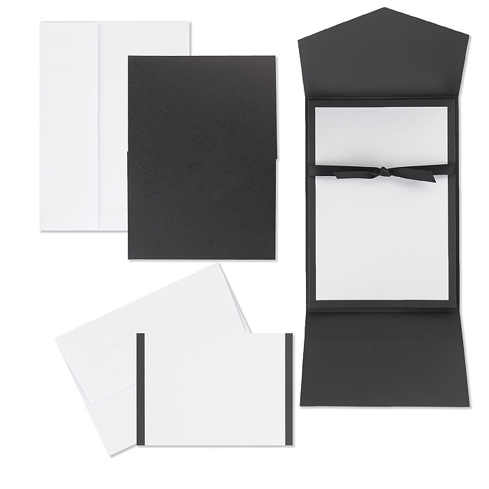 Classic Black & White Pocket Invitation Kit