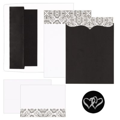 Scroll Pattern and Pocket Invitation Kit