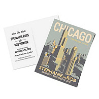 Personalized Save the Date Postcards - Chicago