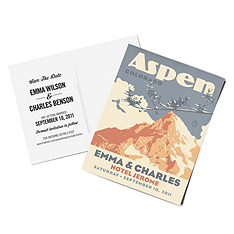 personalized save the date postcards - mountain