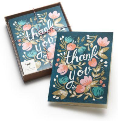 Midnight Garden Thank You Cards