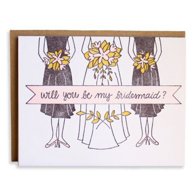 Will You Be My Bridesmaid? Letterpress Set
