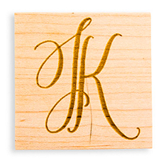 Hand-Drawn Two Letter Monogram + Rubber Stamp