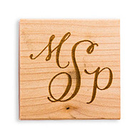 Hand-Drawn Three Letter Monogram + Rubber Stamp