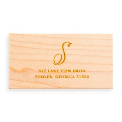 Hand-Drawn Monogram Return Address + Rubber Stamp