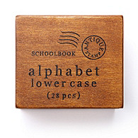Wooden Stamp Set in Vintage Wooden Box
