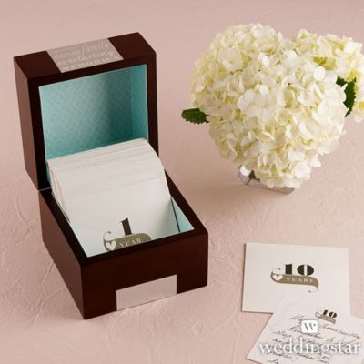 Wooden Anniversary Memory Note Box