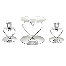 Heart Unity Candle Holder Set
