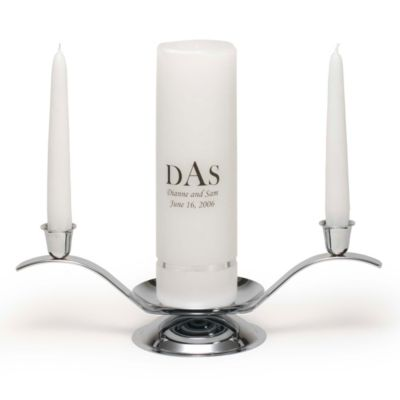 Personalized Unity Candle, Tapers, and Stand