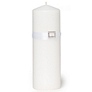The Knot Rhinestone Unity Candle - White