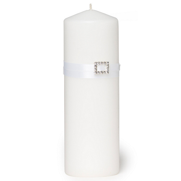 The Knot Rhinestone Unity Candle - White