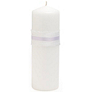 The Knot Colored Silk Unity Candle - White