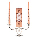 Personalized Unity Candle Set - Pink/Brown