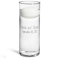 Personalized Floating Unity Candle & Vase