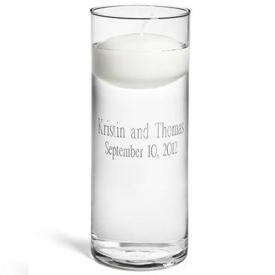 Personalized Floating Unity Candle & Vase